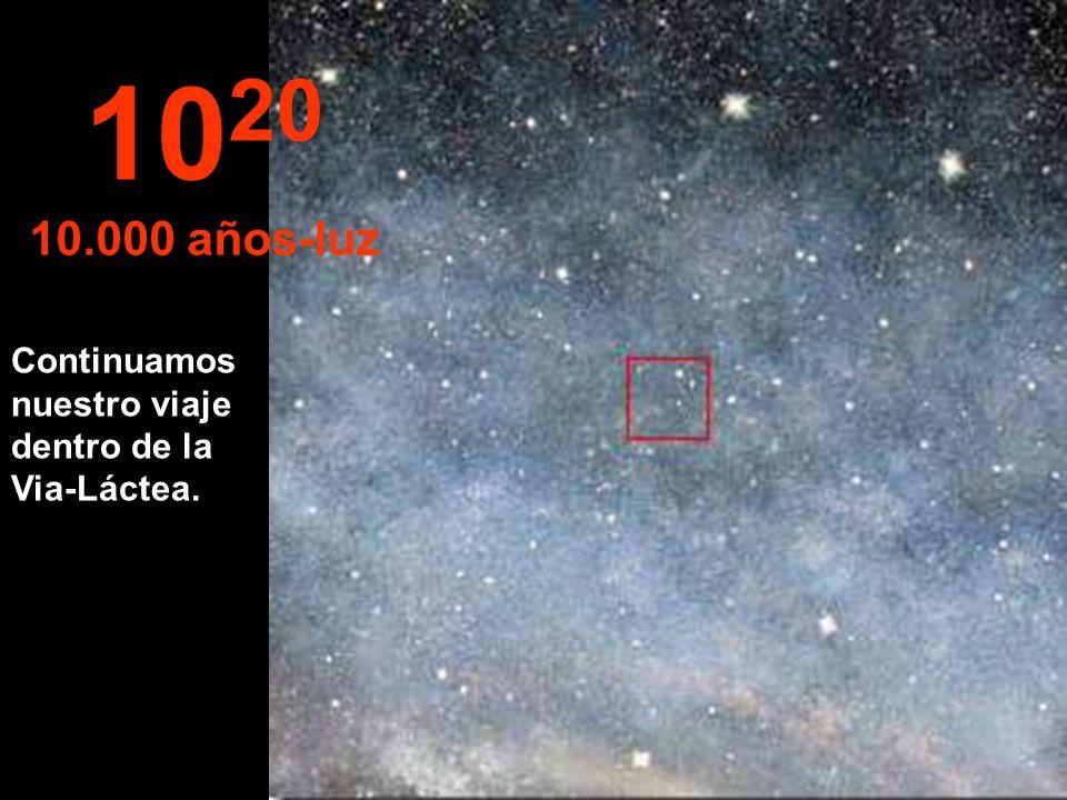 1020 10.000 años-luz Continuamos nuestro viaje dentro de la Via-Láctea.
