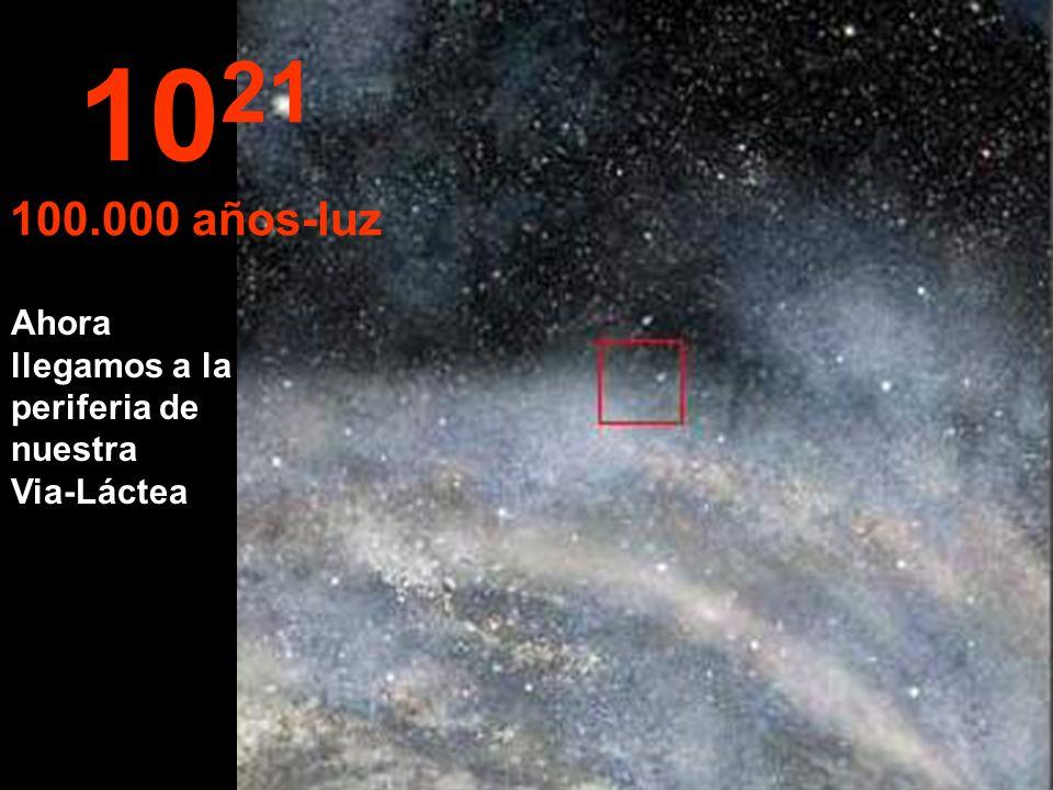 1021 100.000 años-luz Ahora llegamos a la periferia de nuestra Via-Láctea