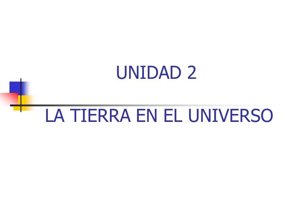 UNIDAD 2 LA TIERRA EN EL UNIVERSO