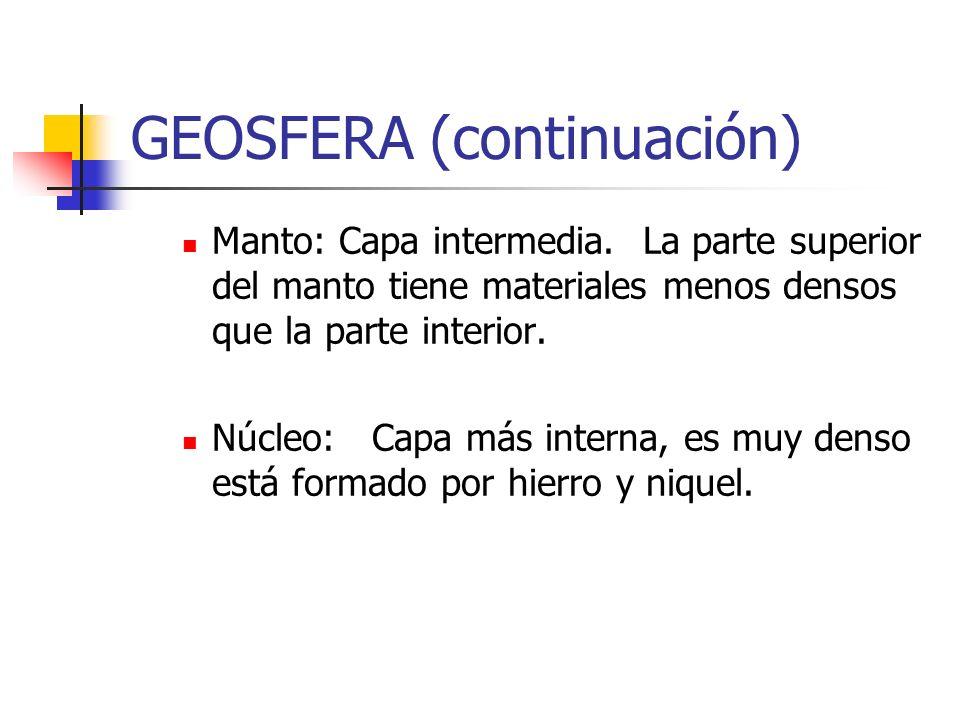 GEOSFERA (continuación)
