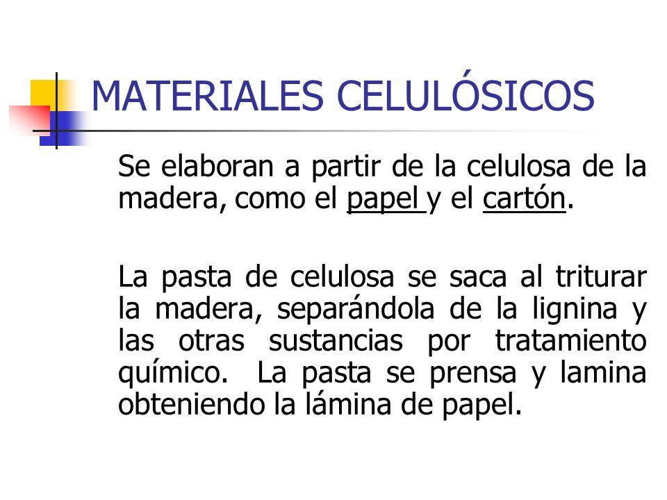 MATERIALES CELULÓSICOS