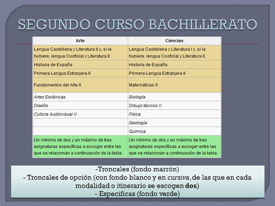SEGUNDO CURSO BACHILLERATO