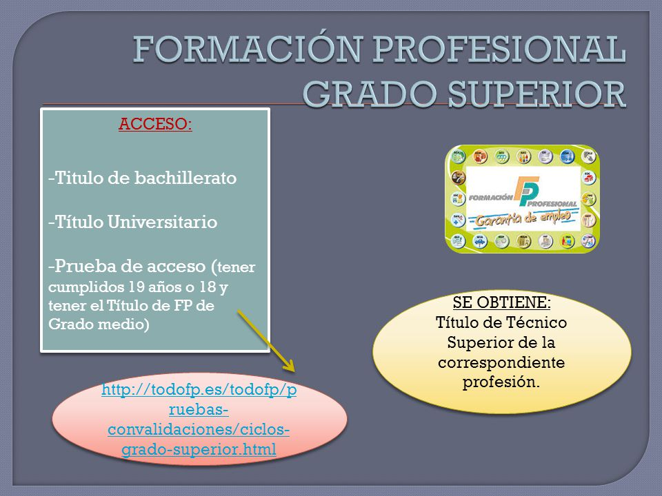 FORMACIÓN PROFESIONAL GRADO SUPERIOR