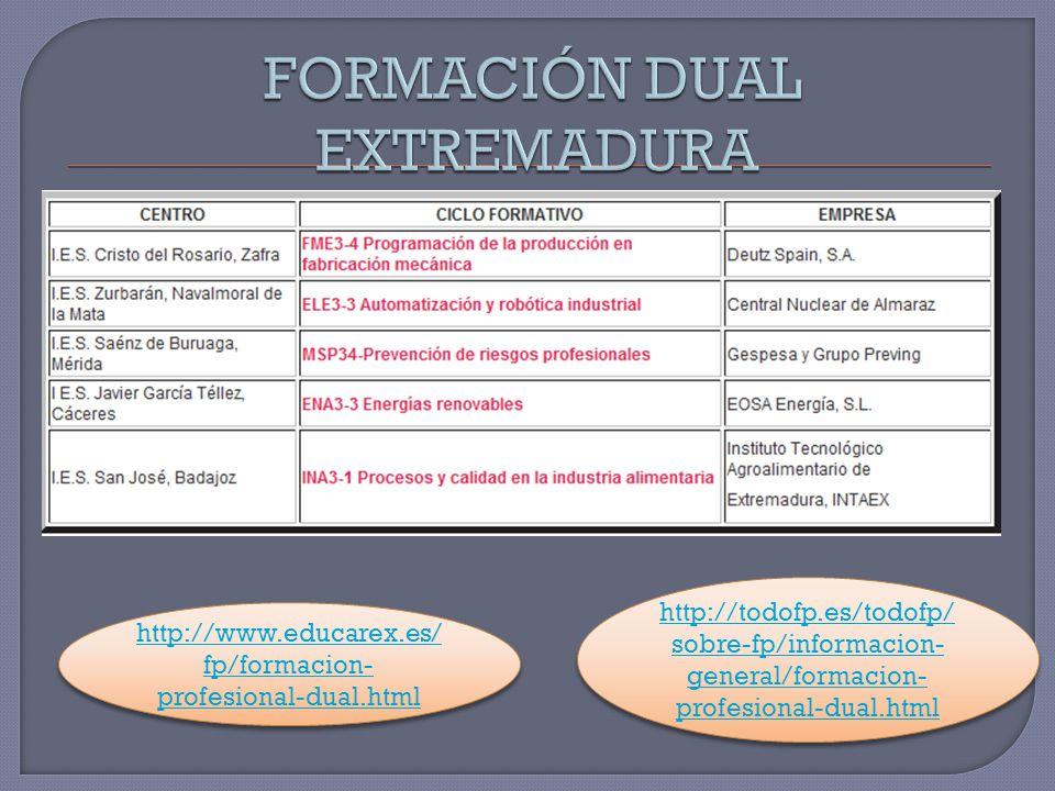 FORMACIÓN DUAL EXTREMADURA