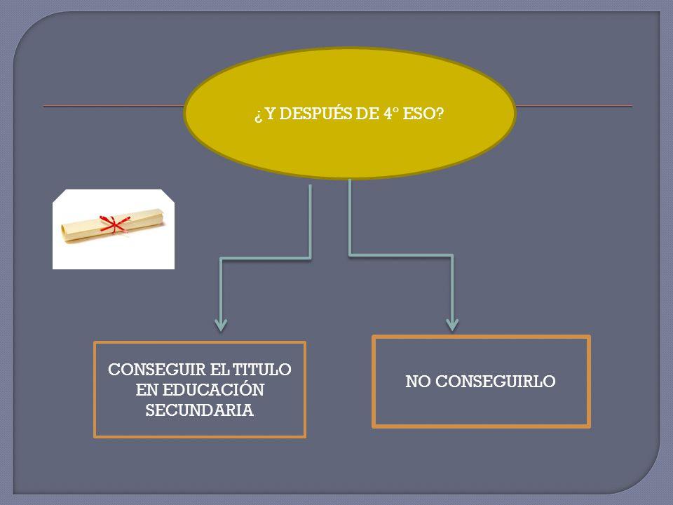 CONSEGUIR EL TITULO EN EDUCACIÓN SECUNDARIA