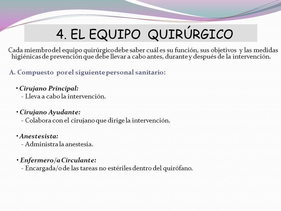 4. EL EQUIPO QUIRÚRGICO