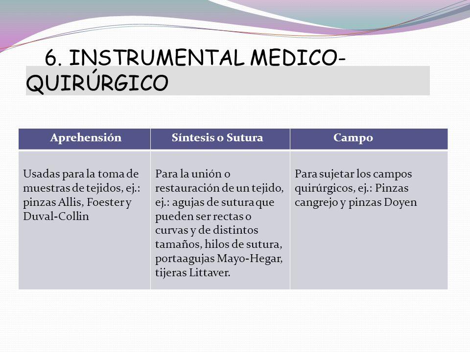 6. INSTRUMENTAL MEDICO- QUIRÚRGICO