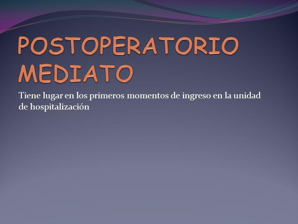 POSTOPERATORIO MEDIATO