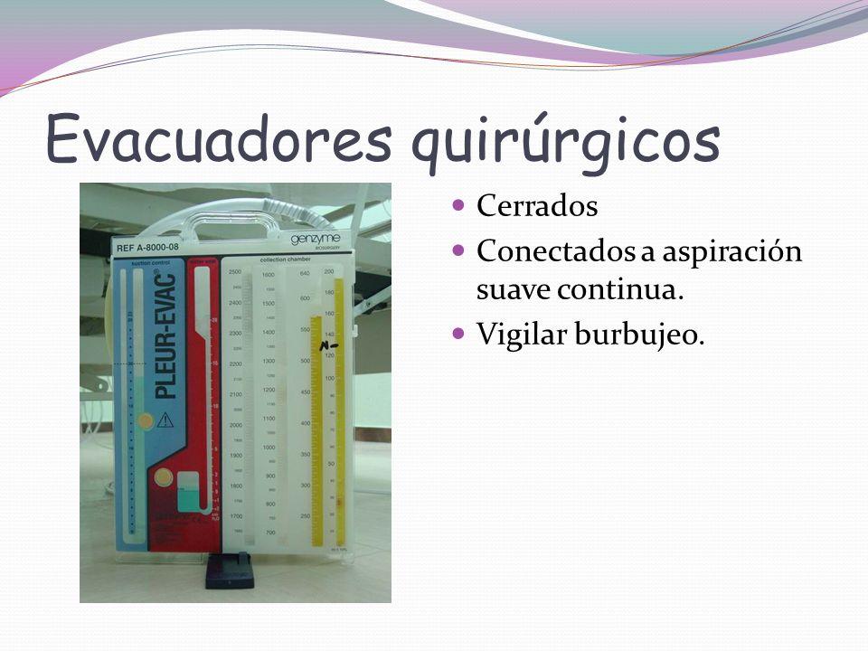 Evacuadores quirúrgicos