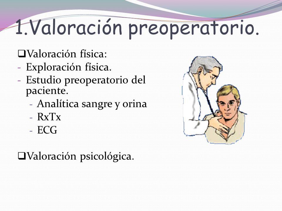 1.Valoración preoperatorio.