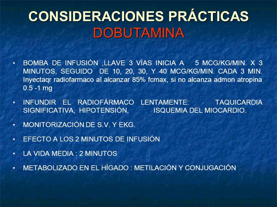 CONSIDERACIONES PRÁCTICAS DOBUTAMINA