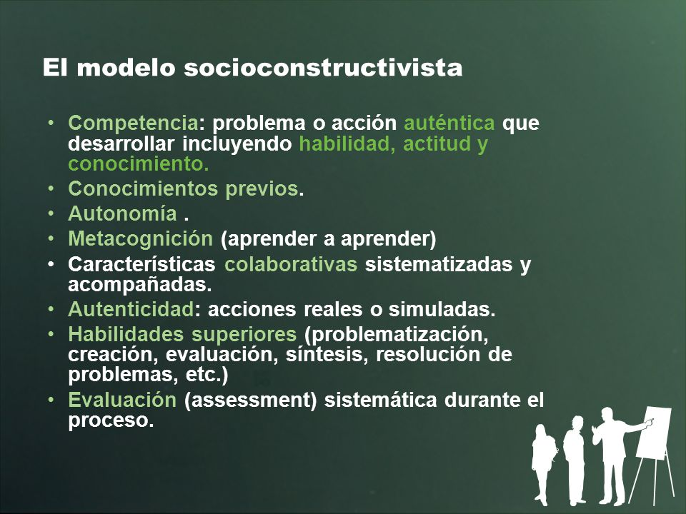 El modelo socioconstructivista