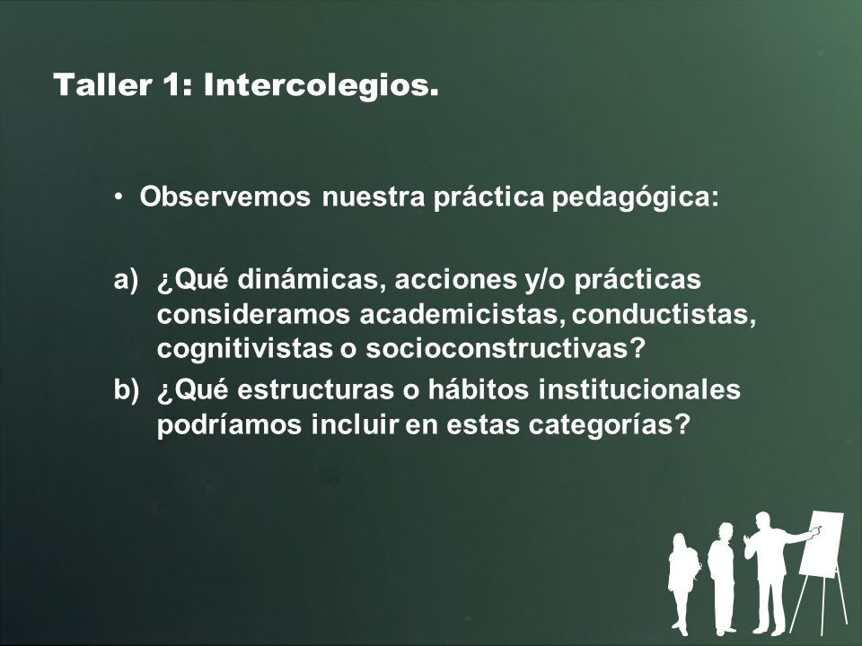 Taller 1: Intercolegios.