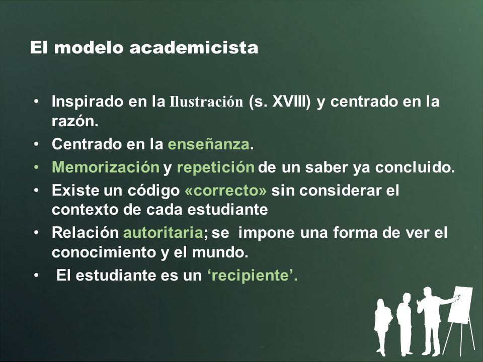 El modelo academicista