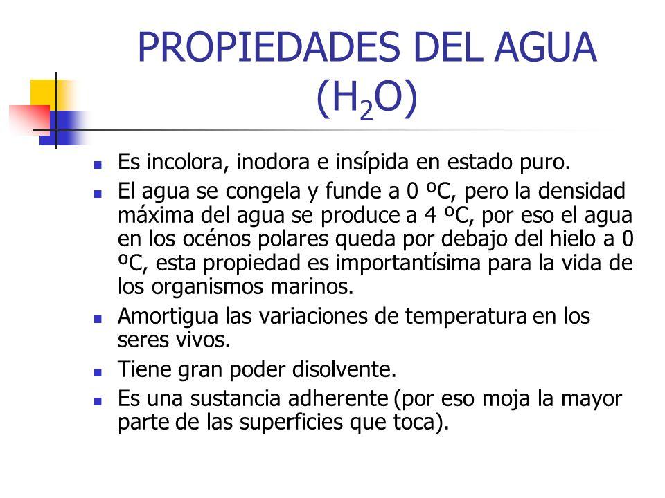 PROPIEDADES DEL AGUA (H2O)