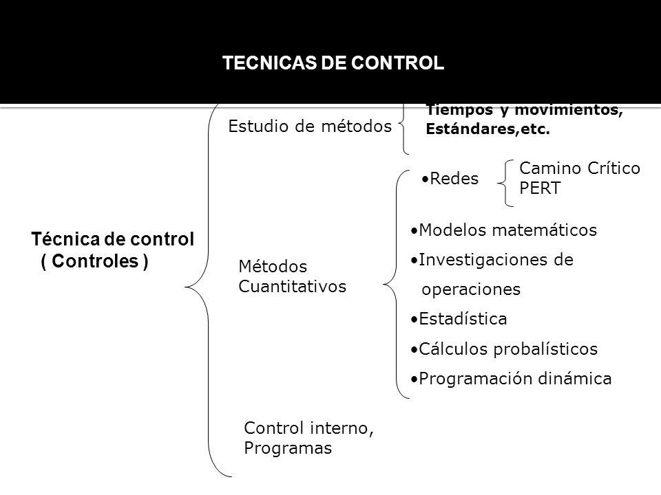 TECNICAS DE CONTROL Técnica de control ( Controles )