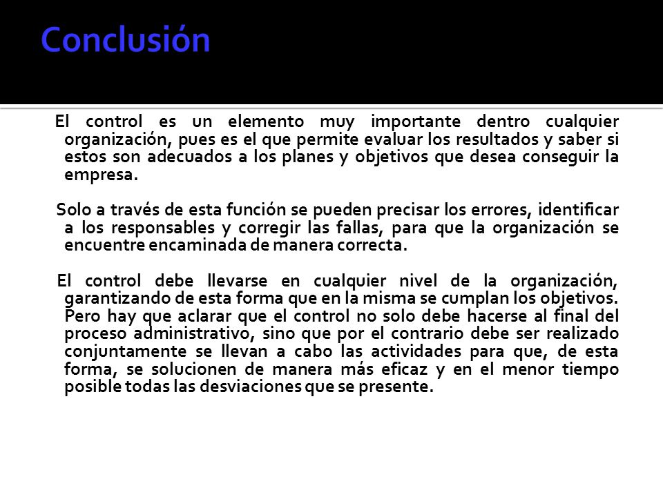 Conclusión
