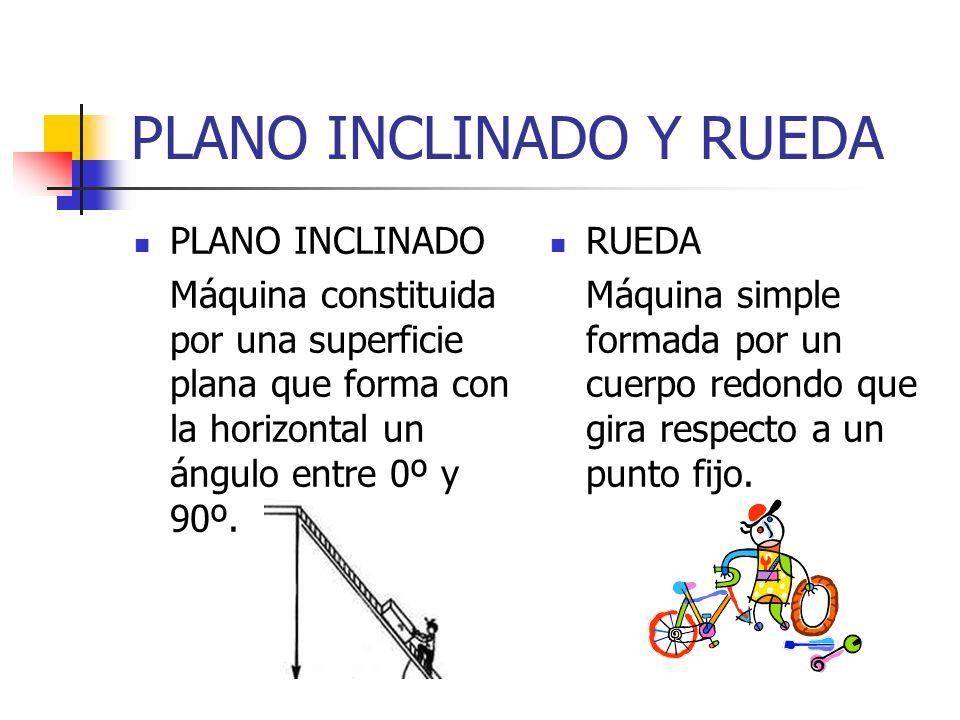 PLANO INCLINADO Y RUEDA