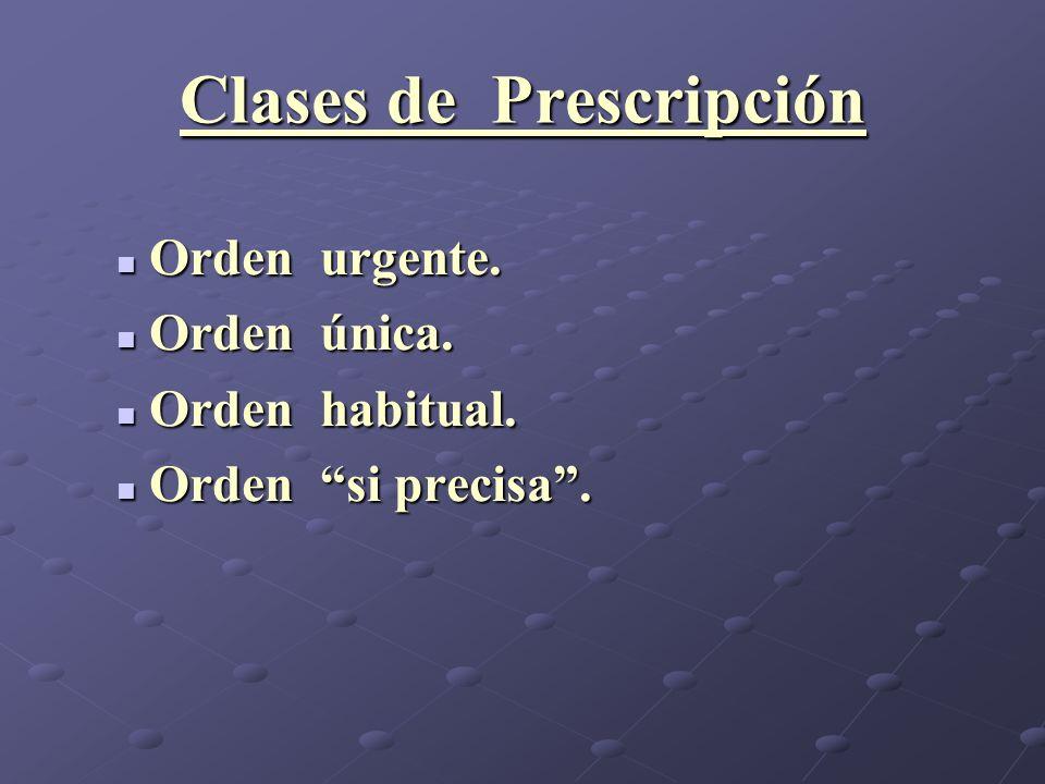Clases de Prescripción