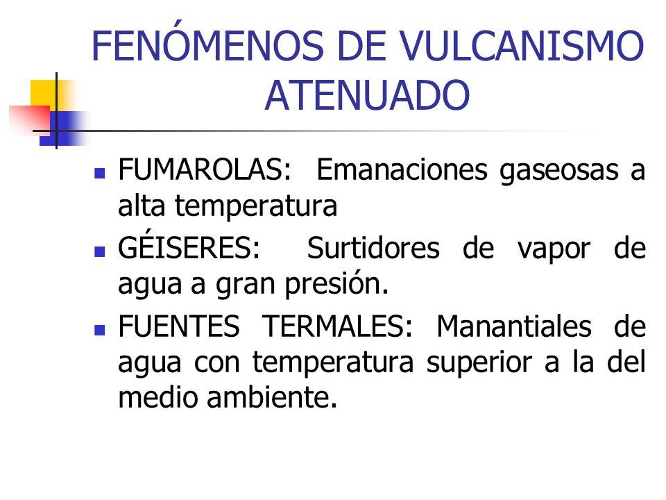FENÓMENOS DE VULCANISMO ATENUADO