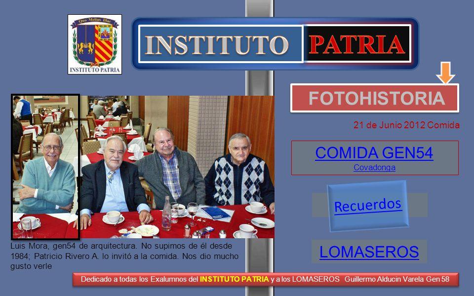 INSTITUTO PATRIA FOTOHISTORIA COMIDA GEN54 Covadonga Recuerdos