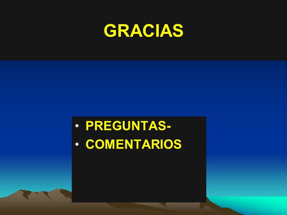 GRACIAS PREGUNTAS- COMENTARIOS