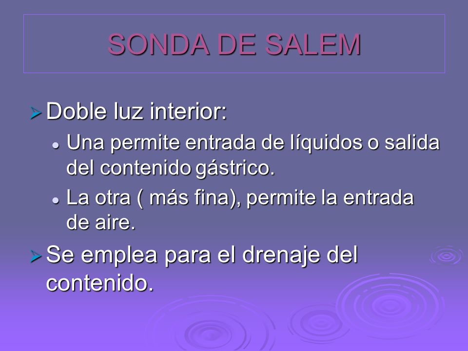SONDA DE SALEM Doble luz interior: