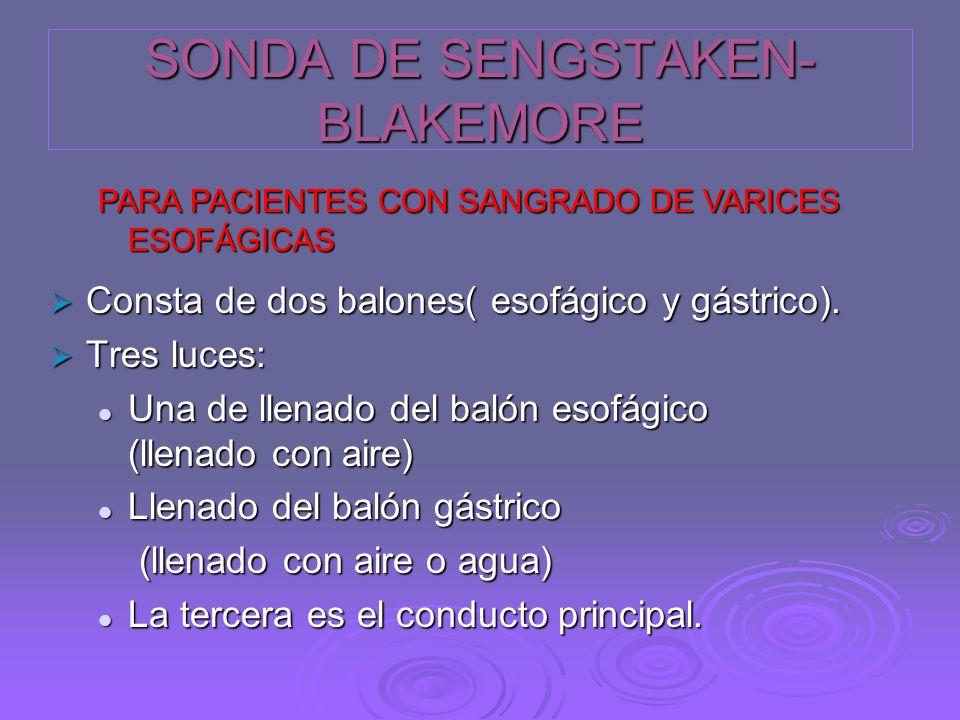 SONDA DE SENGSTAKEN- BLAKEMORE