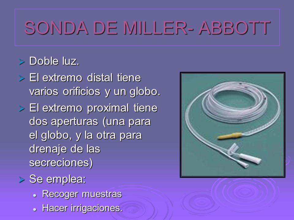 SONDA DE MILLER- ABBOTT