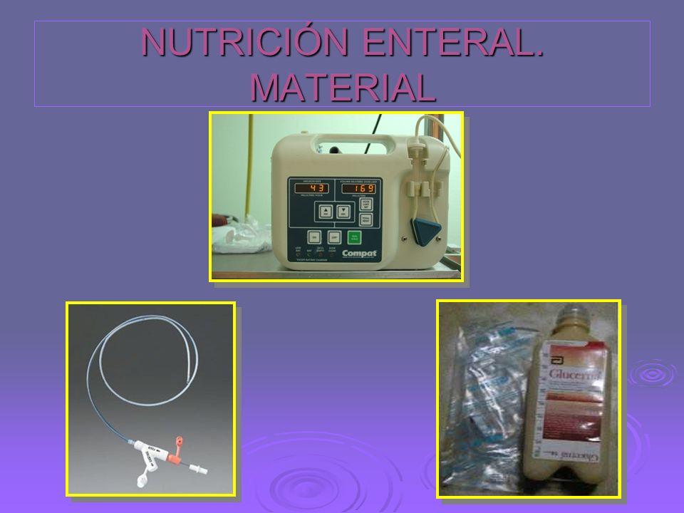 NUTRICIÓN ENTERAL. MATERIAL