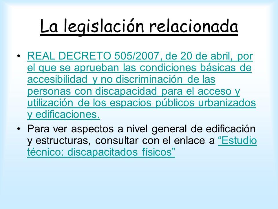 La legislación relacionada