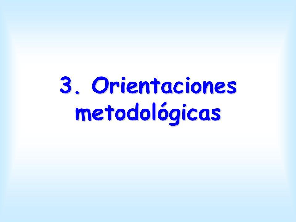 3. Orientaciones metodológicas