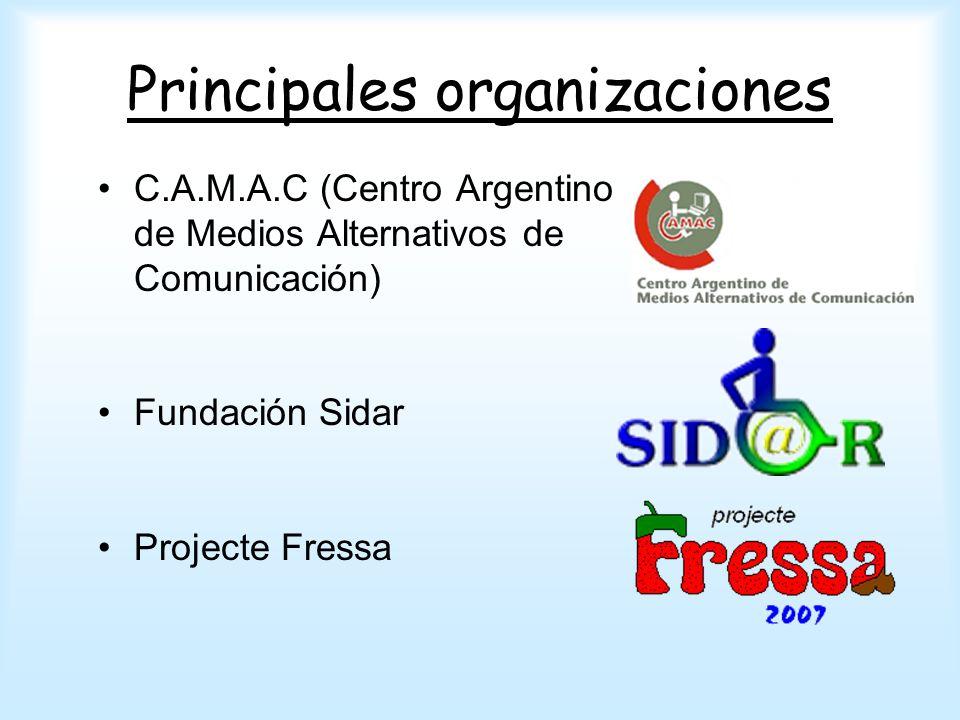 Principales organizaciones