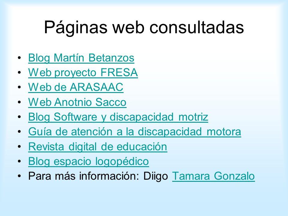 Páginas web consultadas
