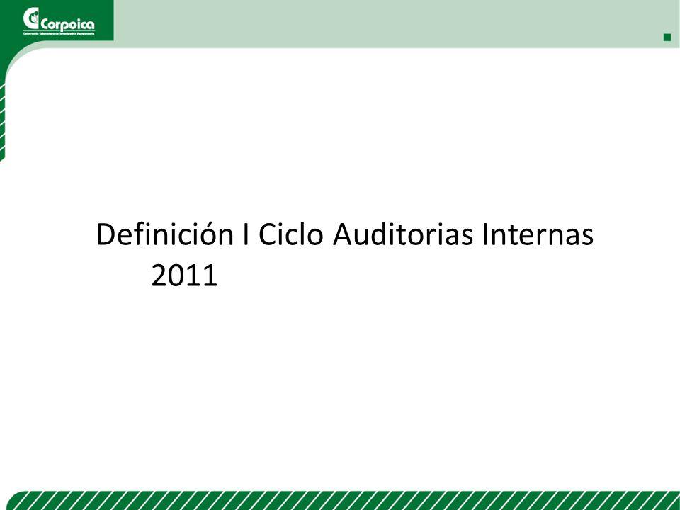 Definición I Ciclo Auditorias Internas 2011