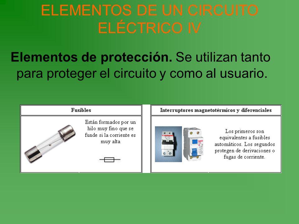 ELEMENTOS DE UN CIRCUITO ELÉCTRICO IV