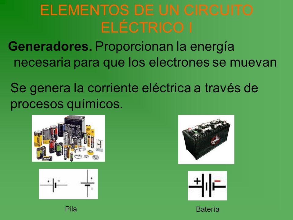 ELEMENTOS DE UN CIRCUITO ELÉCTRICO I