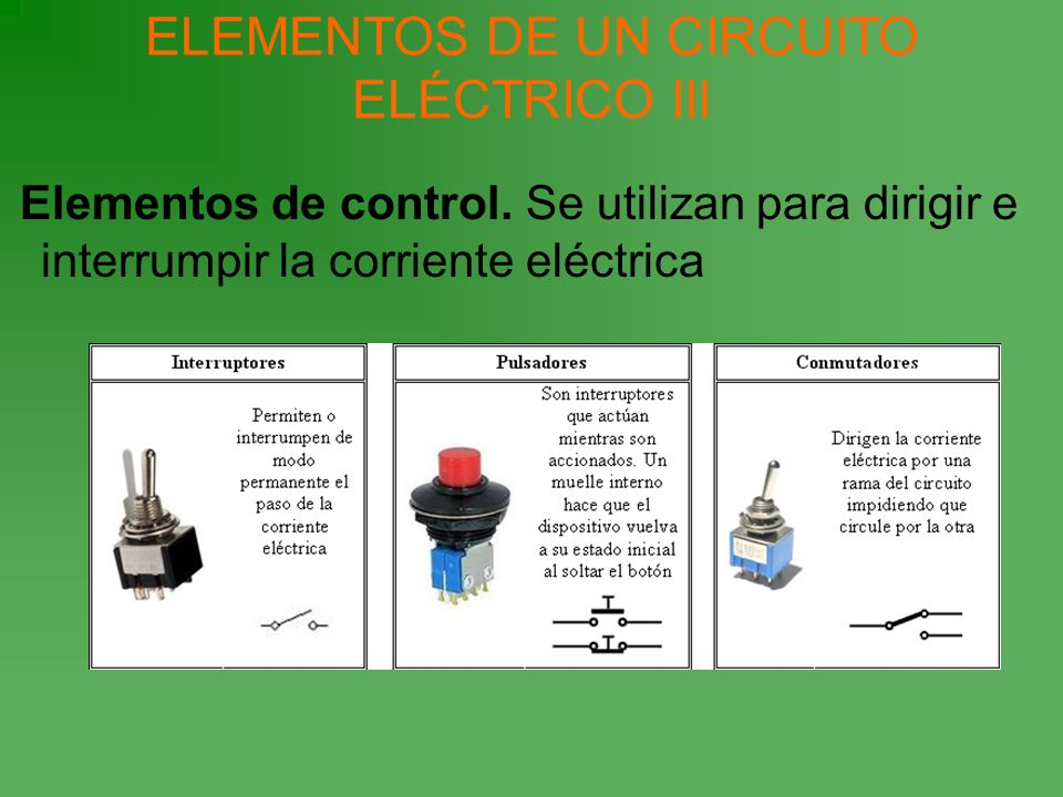 ELEMENTOS DE UN CIRCUITO ELÉCTRICO III