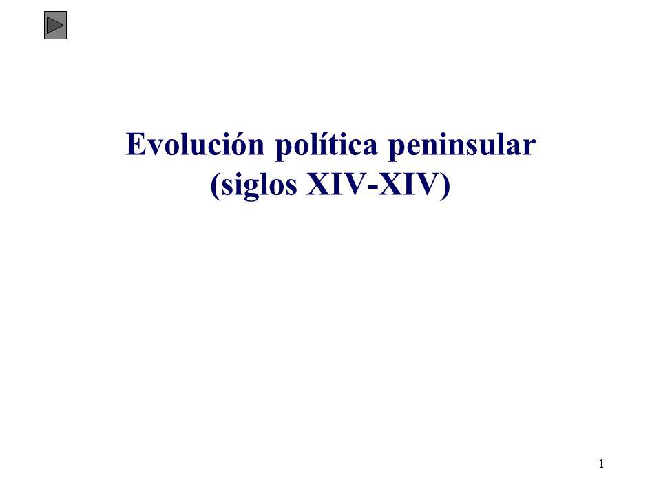 Evolución política peninsular (siglos XIV-XIV)