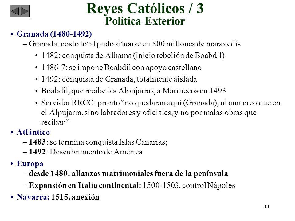 Reyes Católicos / 3 Política Exterior
