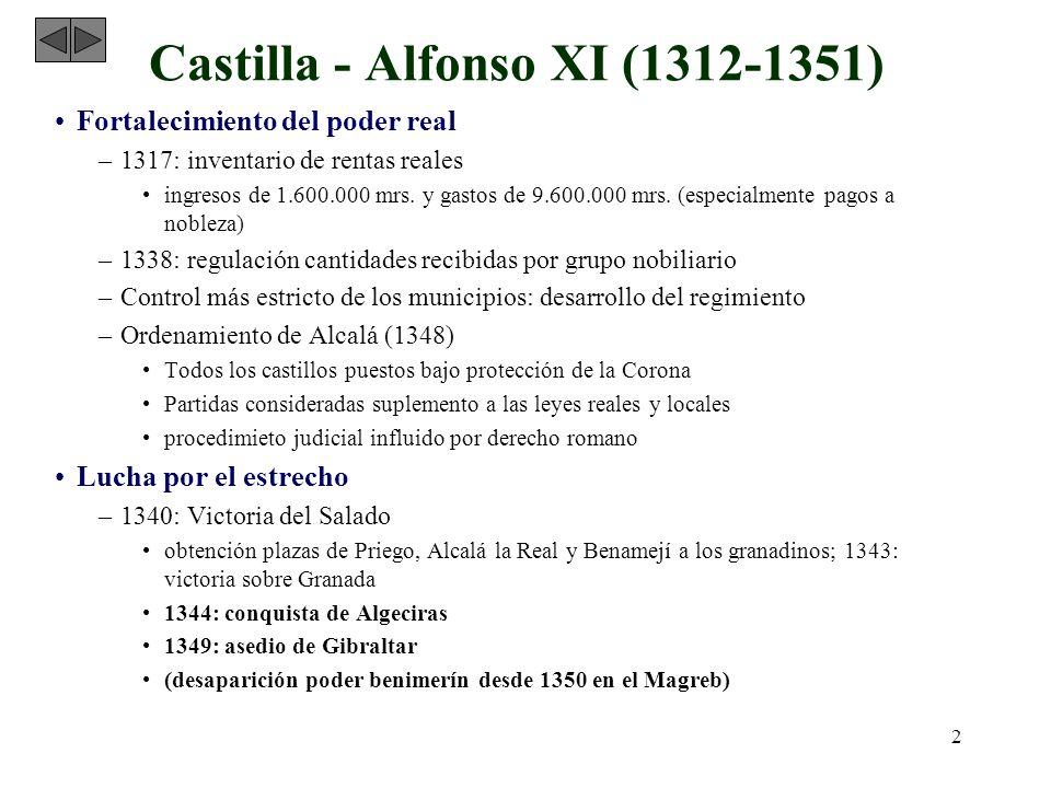 Castilla - Alfonso XI (1312-1351)