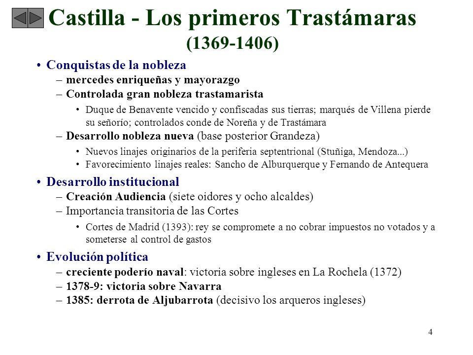 Castilla - Los primeros Trastámaras (1369-1406)