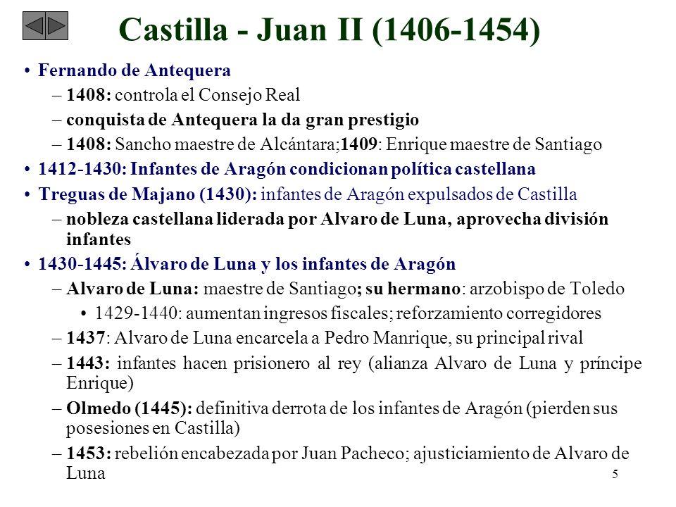 Castilla - Juan II (1406-1454) Fernando de Antequera