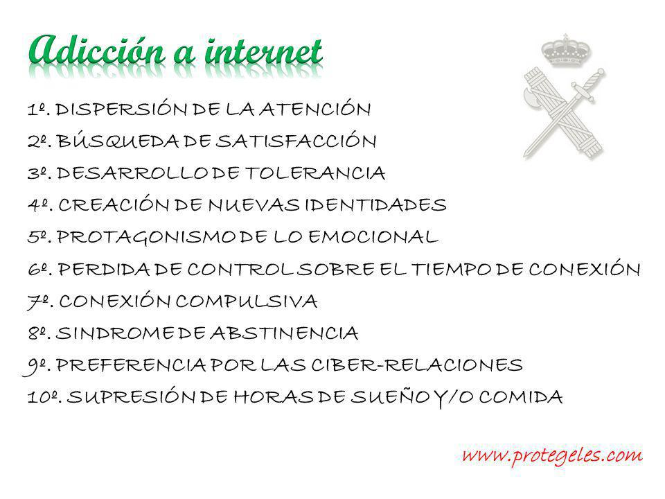 Adicción a internet 1º. DISPERSIÓN DE LA ATENCIÓN