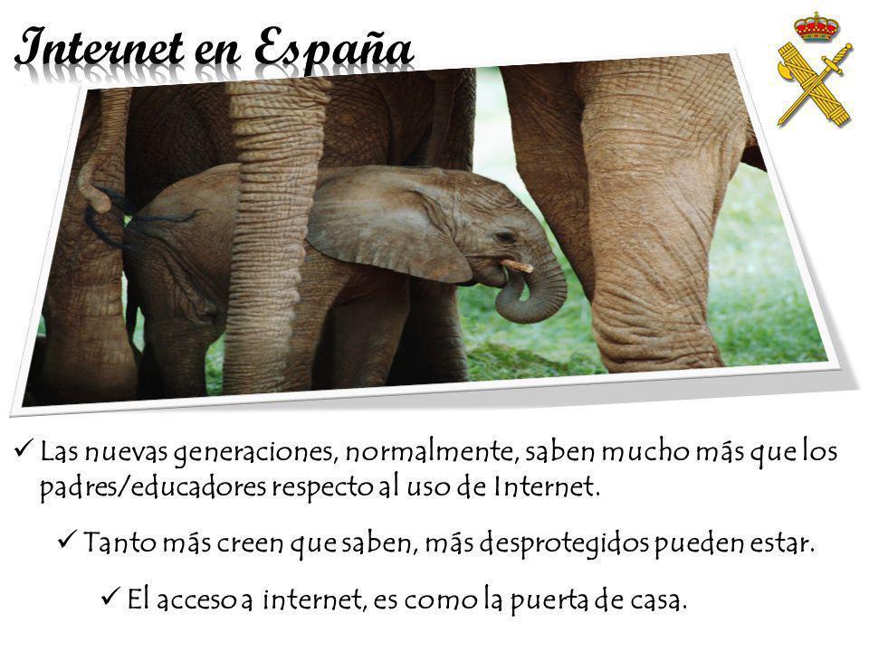 Internet en España Las nuevas tecnologías ya forman parte de nuestra vida social y personal: