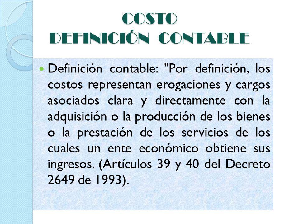 COSTO DEFINICIÓN CONTABLE