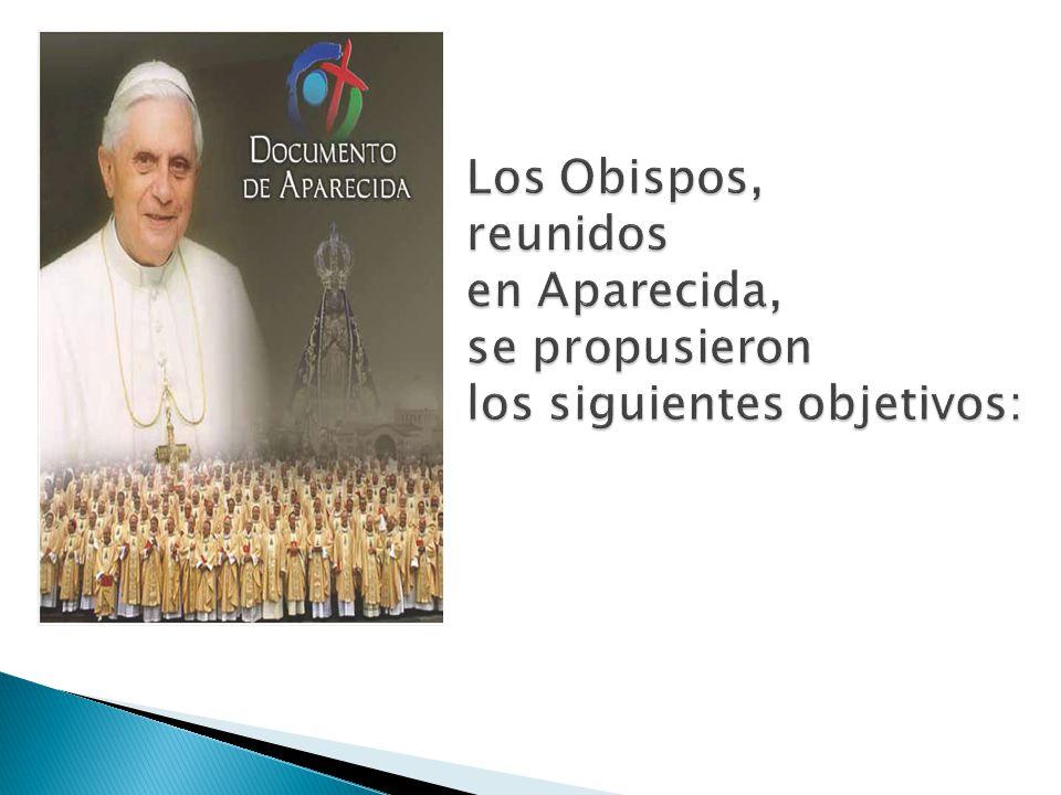 Los Obispos, reunidos en Aparecida, se propusieron los siguientes objetivos: