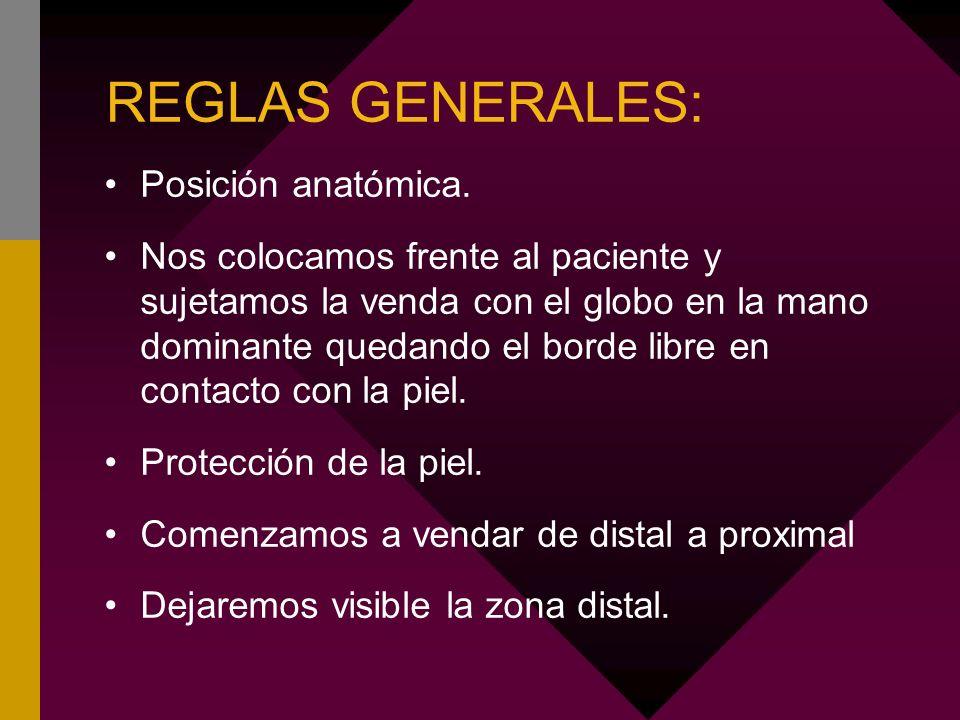 REGLAS GENERALES: Posición anatómica.
