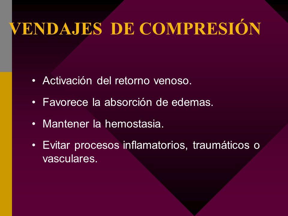 VENDAJES DE COMPRESIÓN