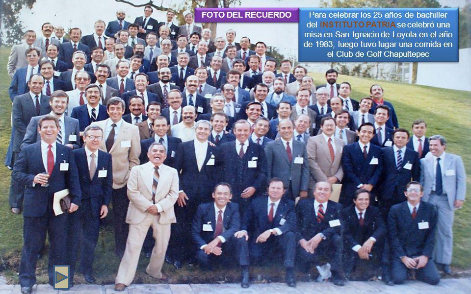 FOTO DEL RECUERDO. En el año de 2008 se celebró una misa en San Ignacio de Loyola.